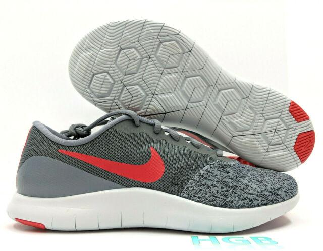 timeless design a3ebd 2e9b6 Nike Flex Contact Mens Cool Grey Habenero Red Running Training 908983-006  NIB