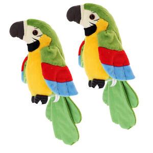 Plüsch sprechender Papagei elektronisches Tierhaustierspielzeuggeschenk