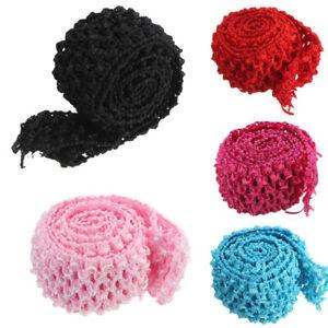 Image is loading 1-Metre-Crochet-Elastic -Stretchy-Waistband-Headband-Hairband- 64c7c308a93