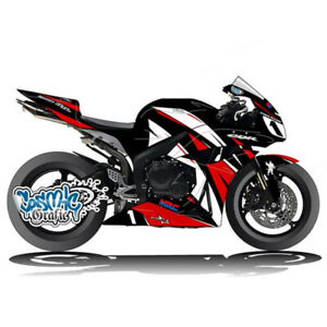 Neu-Verkleidung-Fairings-Lacksatz-Bodywork-Fuer-Honda-CBR1000RR-04-05-Schwarz-Rot