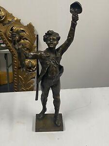 Rare-Bronze-Maurice-Constant-Mon-Premier-Lievre-Hauteur-55-9-Cm