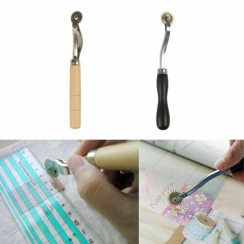 Costura Groover 4mm Rueda de escritura de Cuero Mango De Madera Para Ropa hágalo usted mismo Artesanía