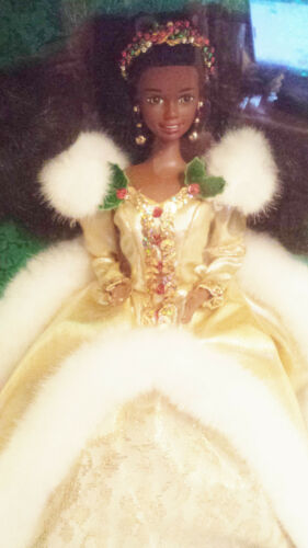 Happy Holidays African American Barbie Doll 12156