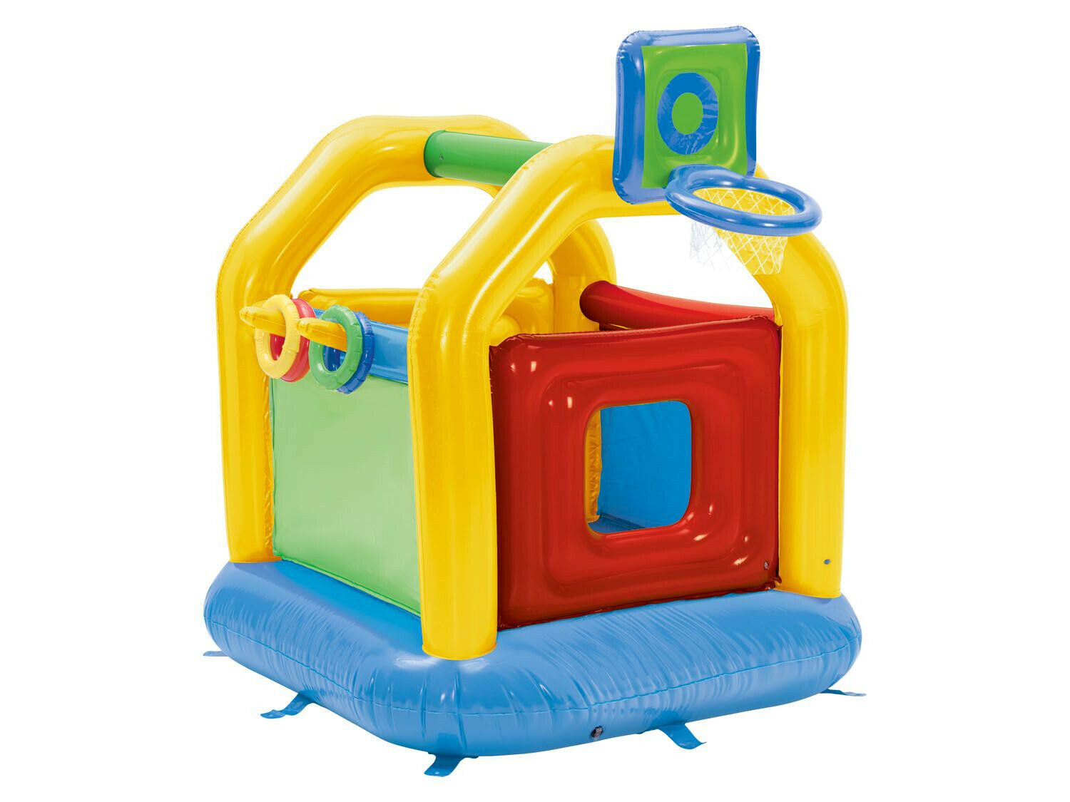 Inflatable Bouncy Castle Playhouse Bouncer With Basketball