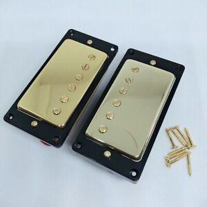Gold-Les-Paul-Electric-Guitar-Pickups-Humbucker-Neck-Bridge-Set-of-2-Dual-Pickup