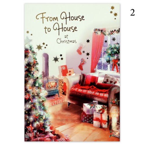 From House to House Happy Christmas Xmas Greetings Card