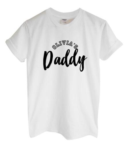 Nom de papa Unisexe T-ShirtPersonnalisé Custom Fille Fils Papa appartient à