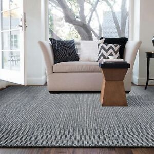 Navy-Blue-Floor-Rug-Handmade-Wool-Geometric-Super-Soft-Modern-Carpet-160x230cm