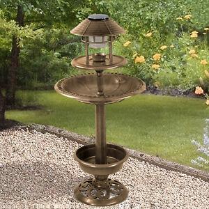 Image Is Loading ORNAMENTAL BIRD HOTEL FEEDER Amp BATH WITH SOLAR