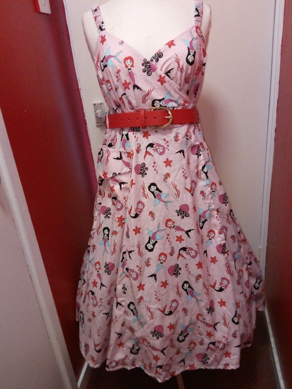 Mermaid  Strappy Swing dress size 14-30