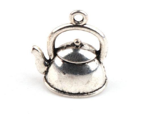 10/20/50/100 PCS Teapot Tibetan Silver Charms Pendants Craft Jewelry Findings