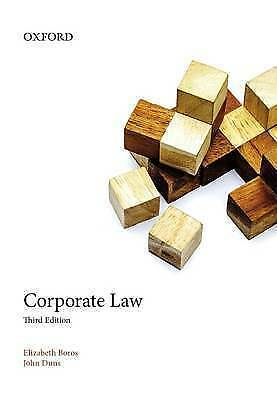 1 of 1 - Corporate Law 3E by Elizabeth Boros, John Duns (Paperback, 2013)