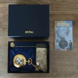 Harry-Potter-Pocket-Watch-and-Warner-Brothers-Key-Chain-Rare