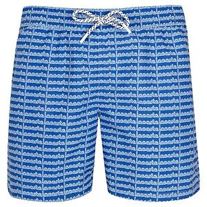 9c79f836c0a5 LACOSTE Letter Print Men s Swim Shorts Blue   Navy S-XL RRP £59 SALE ...