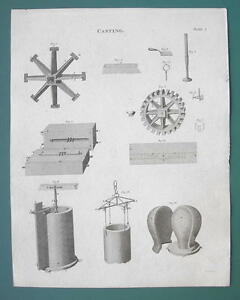 CASTING-Molds-Tools-1820-ABRAHAM-REES-Print