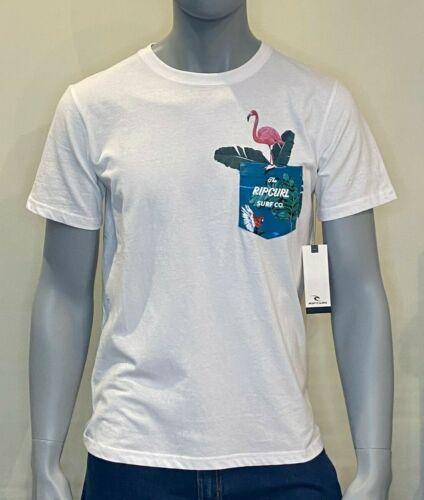 In da Poche-BLANC-TEE SHIRTS-surf clothing Rip Curl-T-shirt-homme