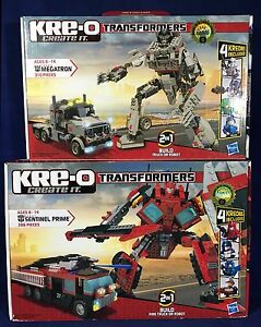 New-2-KRE-O-TRANSFORMERS-Sets-MEGATRON-Sentinel-Prime-FIRE-TRUCK-KREO