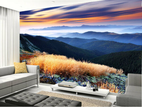 Decline Highland Mountains 3D Full Wall Mural Photo Wallpaper Home Decal Kids