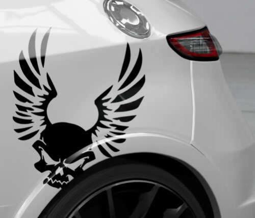 Auto Aufkleber Totenkopf Sticker Skull Engel Flügel Autofolien Vinylfolie JDM
