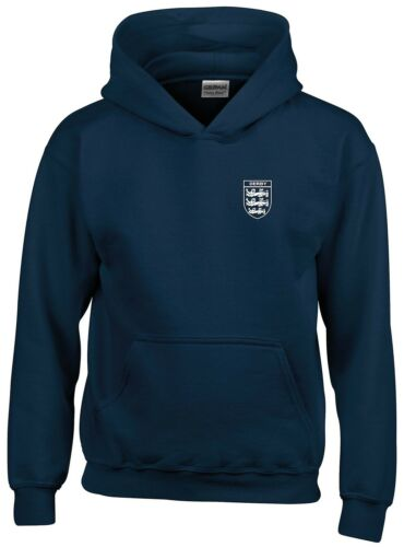 DERBY COUNTY   3 LIONS CLUB AND COUNTRY SMALL CREST HOODIE MENS