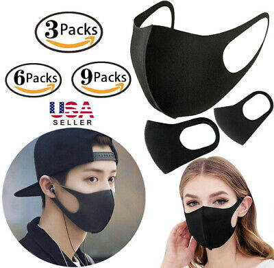 Washable Earloop Mask Cycling Anti Dust Mouth Face Mask Surgical Respirator US