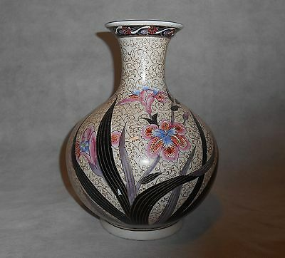 "Great Unique  Famille Rose Porcelain Flower Vases 10""H"