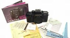 ZEISS CONTAX 167 MT BLACK 35mm CAMERA BODY PAPERS MINT