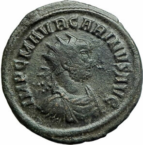 CARINUS-Authentic-Ancient-284AD-Rome-Genuine-Original-Roman-Coin-FIDES-i79271