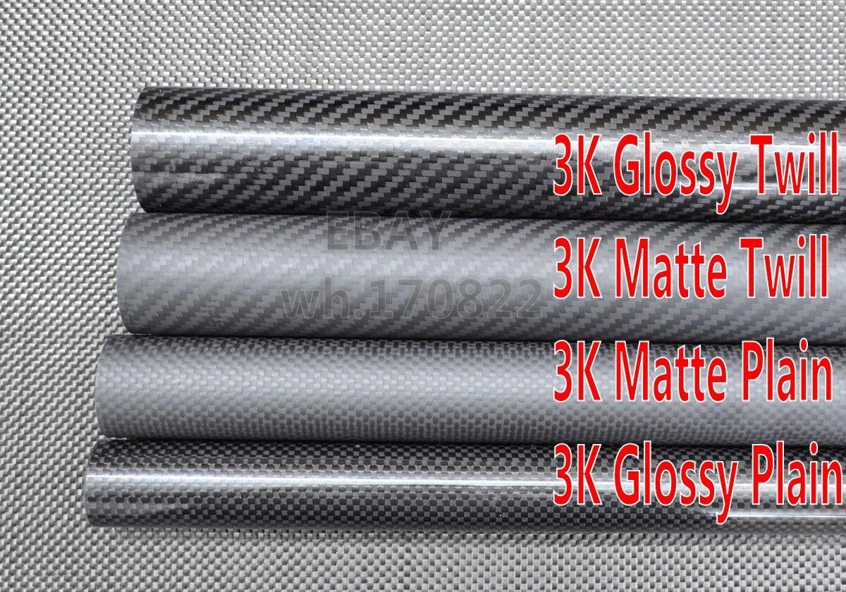 18mm ID x 22mm OD x 500mm Roll Wrapped Carbon Fiber Tube 3K Matt/Glossy 22*18