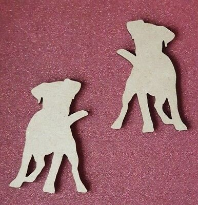 //Wooden craft Norwich dog shape in MDF 123mm x 18mm thick