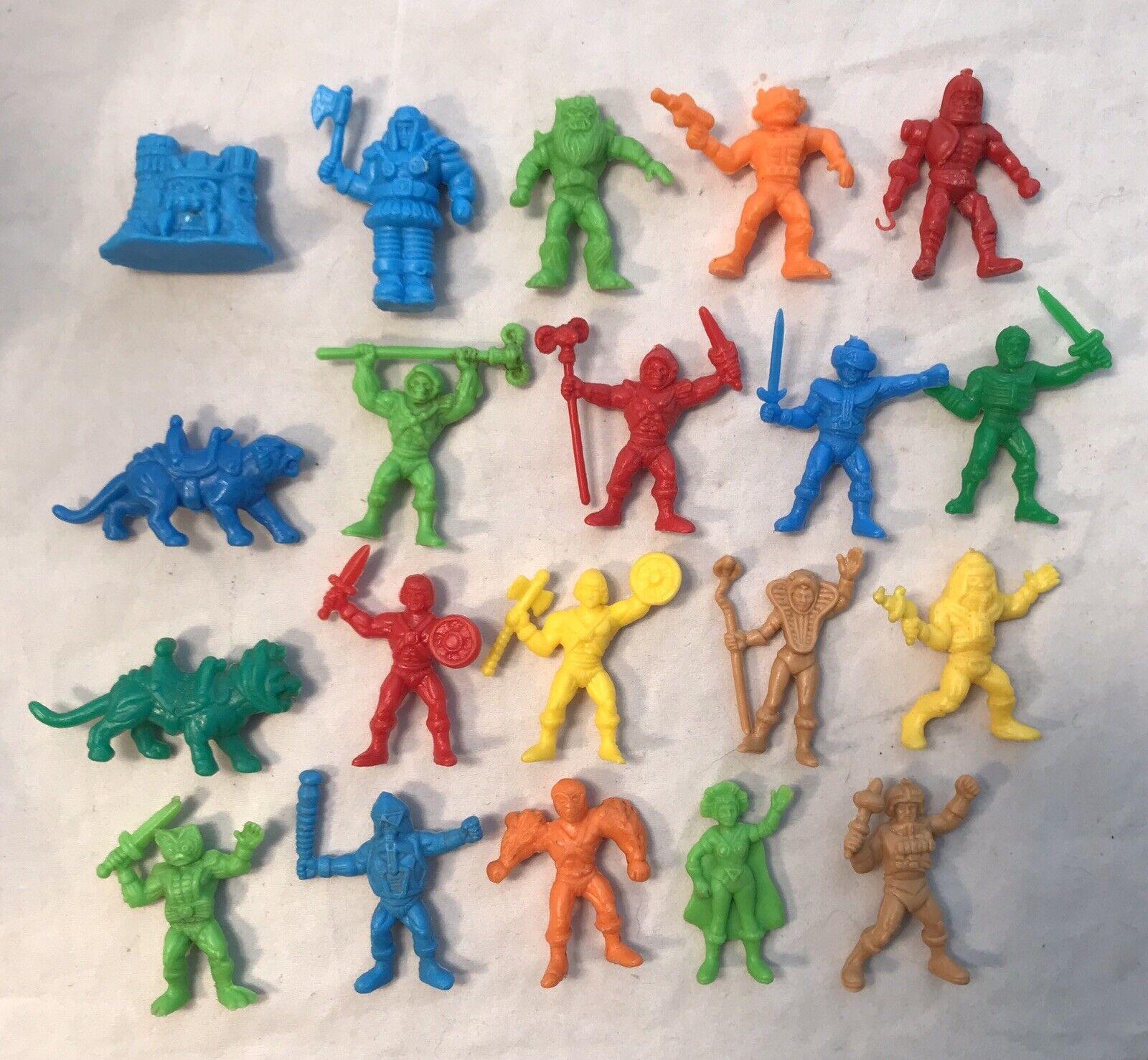 Vintage He-Man masters universe Complete Set lot grauskull Motu Dunkin Panrico