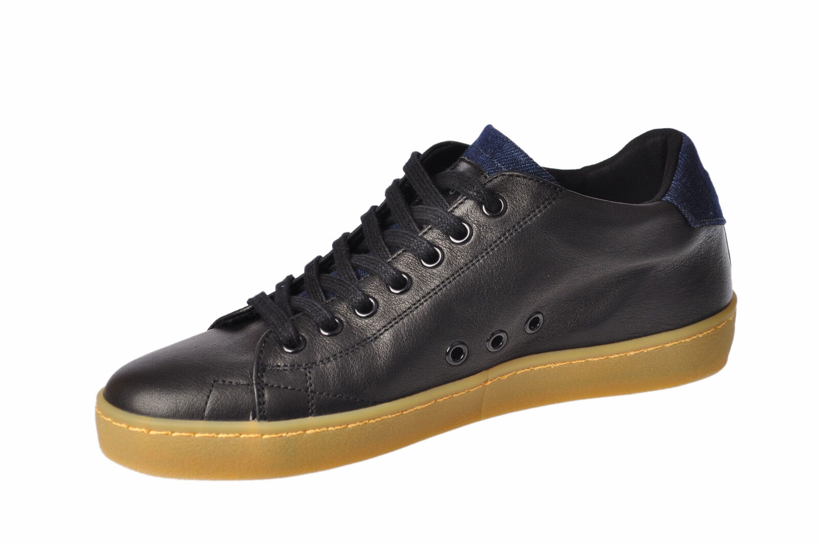 Scarpe casual da uomo  Leather - CROWN-Scarpe-Male-Nero - Leather 2584627N174501 db29c8