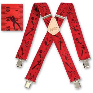 Brimarc Mens Braces Heavy Duty Suspenders 5.1cm 50mm Wide Yellow Tape Braces