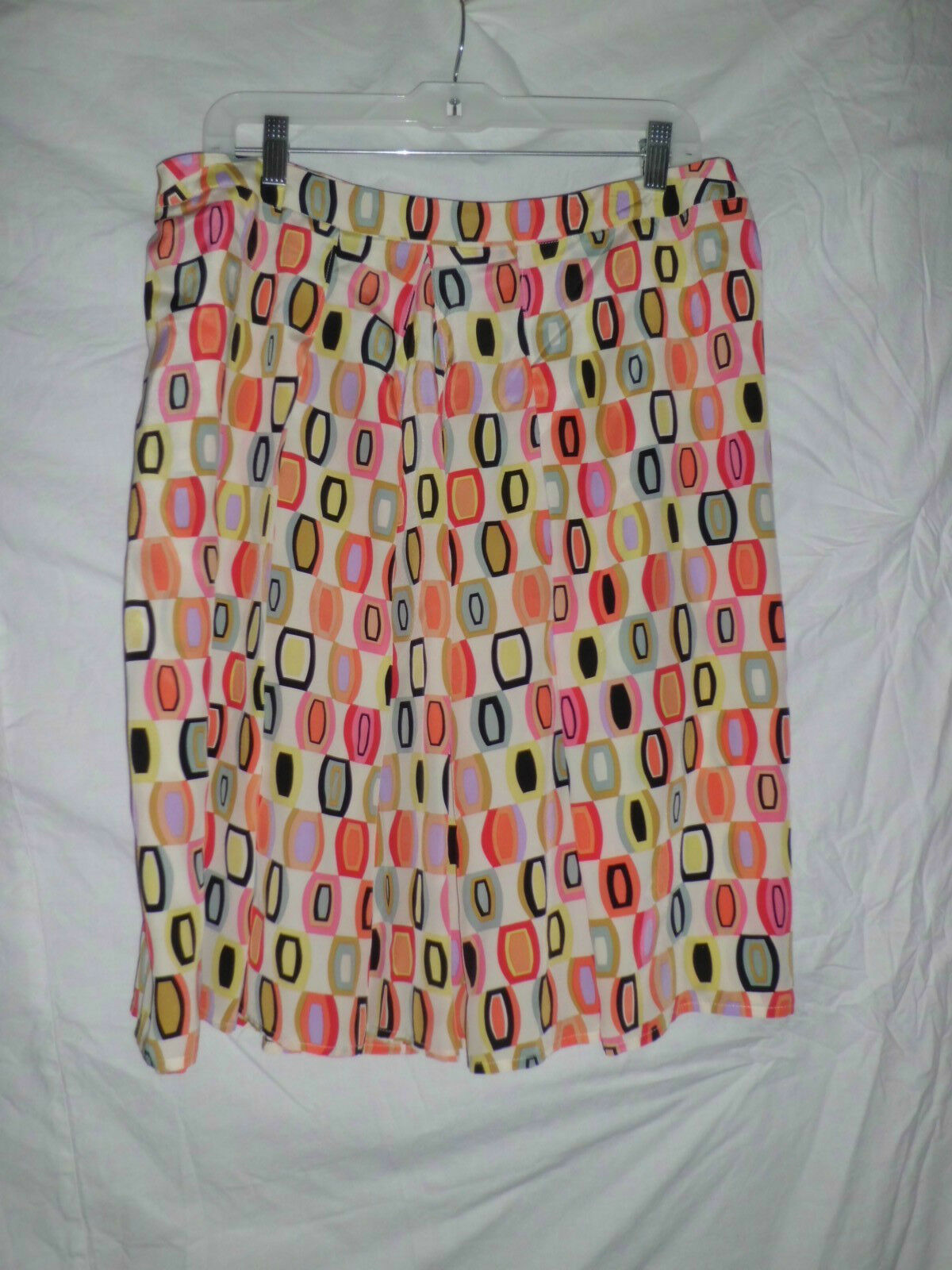DRAMA SIGNATURE nwt creme multi-color skirt retails  sz 12