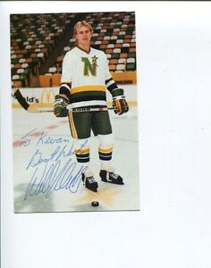 Willi Plett Minnesota North Stars Calder Trophy Winner Signed Autograph Photo