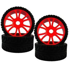 SET RC 1:8 On-Road Car Buggy Foam Rubber Tyre Tires Wheel Rim Red 84R-803