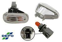 01-05 Honda Civic Clear Jdm Side Marker Lights Pr 02 03