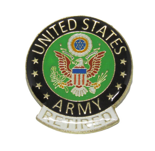 United States Army RETIRED Flag Bike Motorcycle Hat Cap lapel Pin