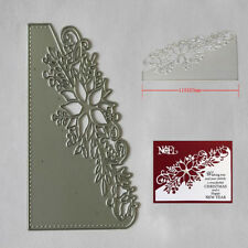Flower Corner Christmas Craft Cutting Dies Metal Xmas DIY Postcards 3D Stamp New