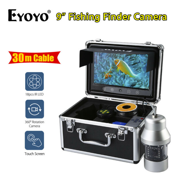 "EYOYO 1000TVL 360° 9"" 30M Fishfinder + LED Remote Water Well Monitoring Camera"
