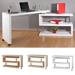 Image Is Loading Sekretar Schreibtisch Regal  Eckschreibtisch Computertisch Buro Beistelltisch