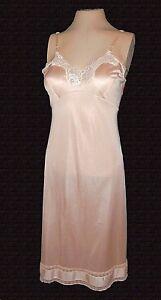 vintage-full-Slip-Adonna-Antron-III-Nylon-Rose-Beige-Lace-Sexy-Mint-36
