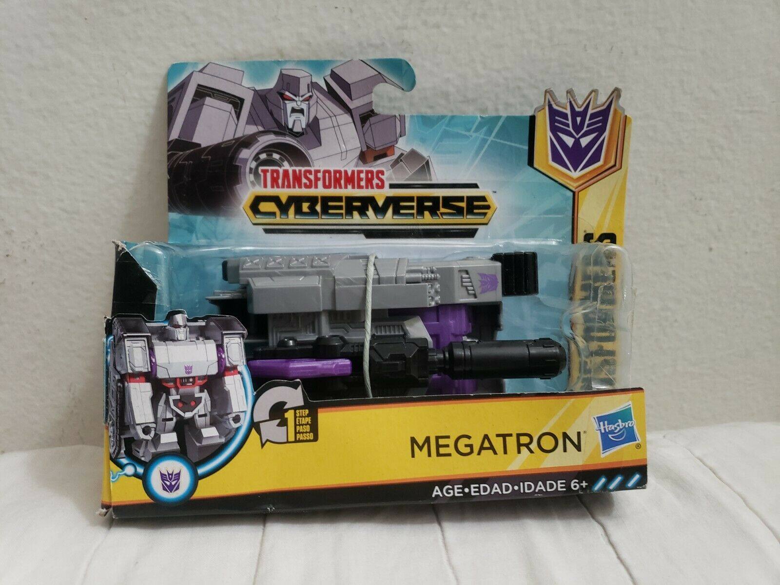 Nouveau HASBRO Transformers cyberverse Action attaquants 1-Step Changer Megatron