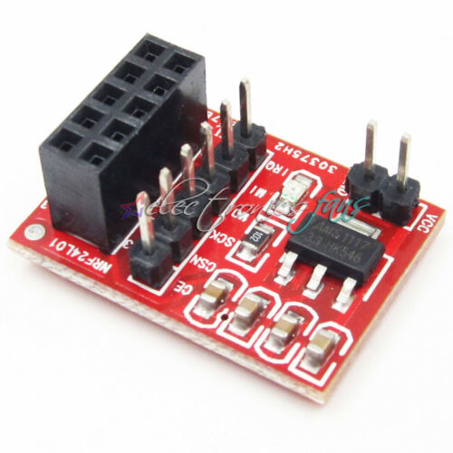 2PCS Sockel Adapter plate Board für NRF24L01 Kabellos Transceive modul 10 Pin