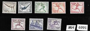 #6991 Complete MH / 8 pc set 1936 Germany Sc B82-B89 German Summer Olympics