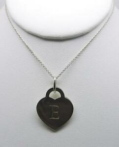 dd55b2fb4 TIFFANY & CO. STERLING SILVER ALPHABET LETTER E HEART WITH 18