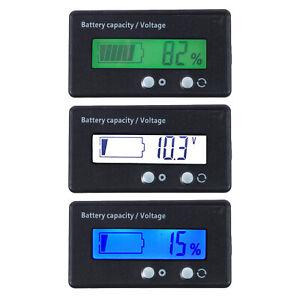 LCD 12V//24V//36V//48V Piombo-Acido Batteria Status Voltaggio Voltimetro Monitor