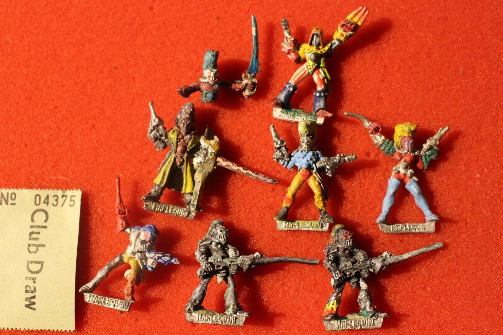 Games Workshop Rogue Trader Era Eldar Harlequins Harlequin Metal Figures Lot 80s