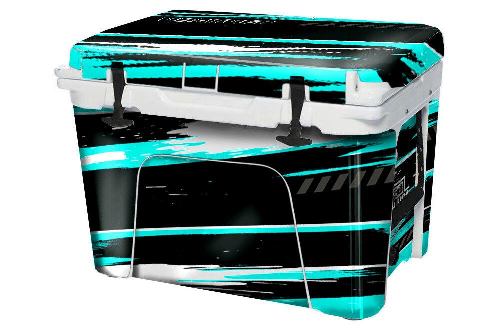 USATuff Custom Cooler Decal Wrap fits YETI Tundra 65qt FULL RZR SxS Teal