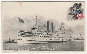 STEAMER-MORSE-PC-Postcard-USS-C-W-MORSE-ID-1966-People-039-s-Line-NEW-YORK-Albany